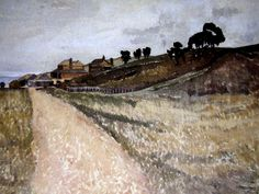Paintings - Horace Hurtle Trenerry. The Pink Road. Martins Farm.