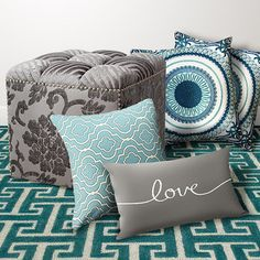 zulily Decor in Turquoise and Gray