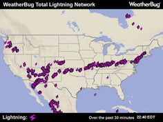 Lightning Map  Always changing...ever on the mark! weather bug has it all!  Allergies, flu activity (none right now!), droughts...hurricanes & weather alerts.