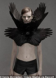 Roadkill couture: Designer creates grisly bridal wear using seagull wings, cat fur and even HUMAN BONES | Mail Online