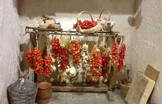 "Dollhouse miniature"" Italian Trespolo hanging salami and provole""- Artisan Handmade Miniature in 12th scale. From CosediunaltroMondo by cosediunaltromondo on Etsy https://www.etsy.com/listing/212527962/dollhouse-miniature-italian-trespolo"