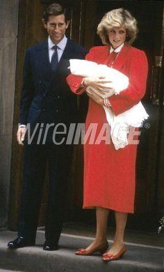 September 16, 1984:  Prince Charles & Princess Diana take their newborn son, Prince Harry, home to Kensington Palace from St. Mary Hospital.