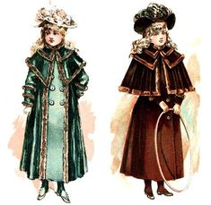 How did young girls keep warm during the Victorian era? Victorian Children's Clothing, Victorian Coat, Victorian Costume, Other Outfits, Outfits For Teens, Period Outfit, Cold Weather Outfits, Edwardian Fashion, Victorian