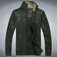 Mens Trendy Zip-Up Sweater