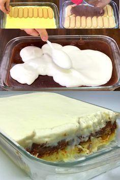 Marido Gelado é uma sobremesa típica do natal e festas de aniversário Baking Recipes, Cake Recipes, Dessert Recipes, Portuguese Desserts, Tiramisu Recipe, Köstliche Desserts, I Love Food, Food Cakes, Sweet Recipes
