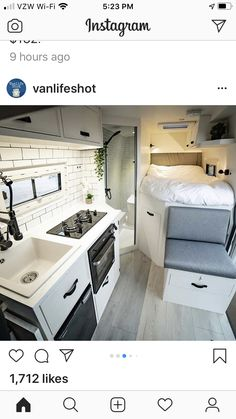Van Living, Tiny House Living, Small Living, Van Conversion Interior, Camper Van Conversion Diy, School Bus Tiny House, Minibus, Camper Life, Bus Life