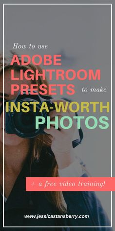 How to make INSTAGRAM WORTHY PHOTOS with Lightroom Mobile Presets! I want to teach you how to use Adobe Lightroom Mobile Presets so you can have Insta worthy pics all the time. #instagramtips #photographytips #photoediting #socialmediatips #lightroompresets #onlinemarketing #contentmarketing #lightroomtips