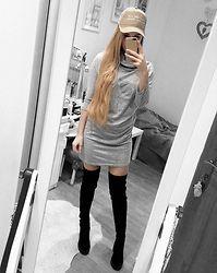 Endzel - Dress, H&M Boots - Grey