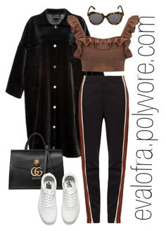 """""""Untitled #718"""" by evalofra on Polyvore featuring Mochi, Wales Bonner, Karen Walker, Gucci, Vans, outfit and ootd"""