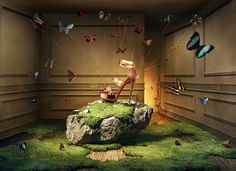 Weird & wonderful still life campaign photography for the iconic red-sole shoes of Christian Louboutin.