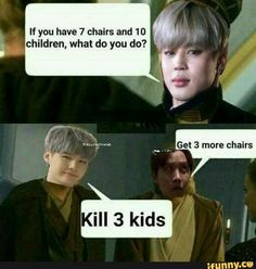 bts memes If you have 7 chairs and 1 D children, what do you do? popular memes on the site Bts Suga, Jhope, Taehyung, Bts Memes Hilarious, Bts Funny Videos, Suga Funny, Fun Meme, Namjin, Bts Meme Faces