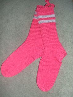 Hand Knit Wool Socks, Mens, Womens, Light Maroon by Little Pleasures, $23.00 USD