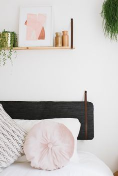 Perfect your bed, with this DIY cushion headboard.