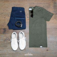 Modern Man SS18 #Wagner #Chinos #Tee #WhiteSneakers #LindberghWhite #ShineOriginal #MensFashion