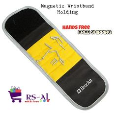 The wristband tool is so helpful that many actually consider it to be ahandyman must-have ! Unique Wristband. The best thing about the Brackit Magnetic Wristband is that it isone-size-fits-most. Outfitted with anadjustable strap, the nail wrist band can be worn by most everyone on either the right OR left wrist as desired. | eBay!