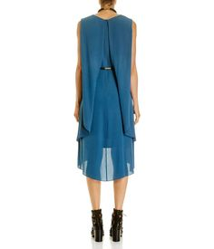 Fold Back Silk Dress