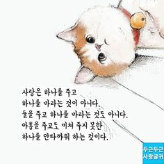Wise Quotes, Famous Quotes, Inspirational Quotes, Korean Language, Cat Art, Love Life, Favorite Quotes, Teddy Bear, Wisdom