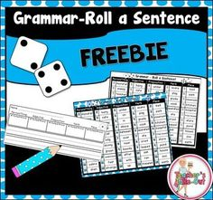 Freebie! Grammar Roll a Sentence is a fun way to get your students writing…