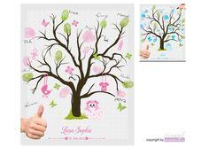 Fingerabdruckbaum   Taufgästebuch   Taufgeschenk von Livingstyle und Wanddesign auf DaWanda.com