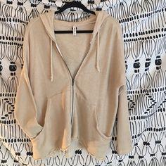 RVCA Jackets & Coats - Oversized cream zip up hoodie