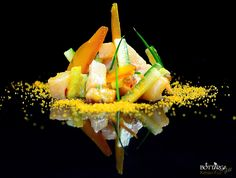 Kenzo Fco Fotografia Gastronômica: Ceviche de Robalo com Bottarga Gold