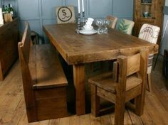 H&F Plank Butchers Dining Table - H&F Plank Dining Room Furniture