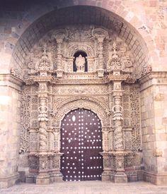 Iglesia de San Lorenzo, arquitectura del barroco mestizo, Potosí.