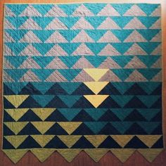 itsallinfun: #6 Untitled, handquilted, armstrong homegoods flying geese