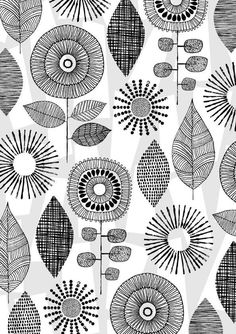 Vintage Flowers limited edition giclee print Vintage Blumen limitierte Auflage Giclee print von EloiseRenouf The post Vintage Flowers limited edition giclee print appeared first on Ideas Flowers. Vintage Flowers, Vintage Floral, Marco Ikea, Lucienne Day, Watercolor Flower, Black And White Drawing, Black White, Motif Floral, Zentangle Patterns