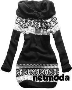 Black & White Norwegian Style Sweater