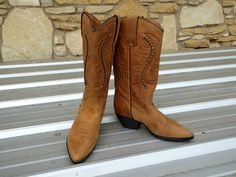 Maine Woods Leather Western Boots Size 6M Size 6M by MyFrenchTexas