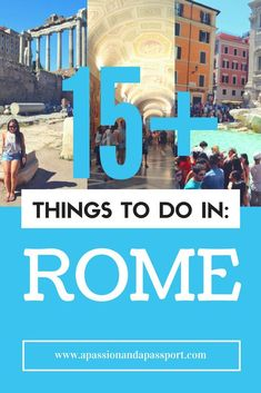 Heading to Italy soon?! Here are 15+ things to do in Rome! This pin is so helpful! Lots of extra tips and ways to save money in here! Click through!