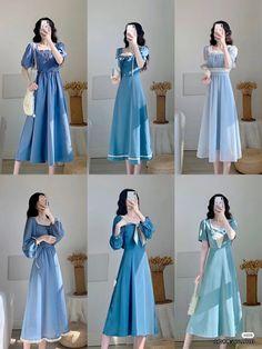 Kpop Fashion Outfits, Girls Fashion Clothes, Modest Fashion, Fashion Dresses, Stylish Dresses For Girls, Cute Dresses, Simple Outfits, Classy Outfits, Chifon Dress