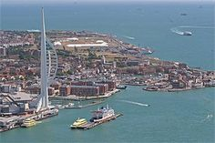 Portsmouth, England; landed here with the ferry that we took from France...