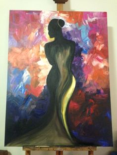 The elegant Lady  Acrylic by Nicole