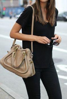 All black & a tan bag