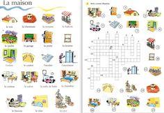 Les mots de la maison - mots croisés - le français avec des jeux (S. Tibert)