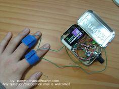 Lie detector built into an altoids tin Every parent should have one...