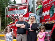Jamie Davis and family. As shown on the Discovery show Highway Thru Hell, he has sacrificed his personal and family life to help others with heavy rescue mostly on the treacherous Coquihalla Highway in Canada. A hard business to be in but so needed. I have total respect for him.