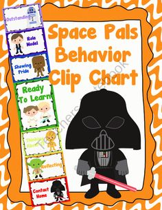 Kids love Star Wars, so this Space Pals Behavior Clip Chart caught my eye! #education #classroom #teaching