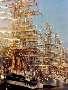 """rickinmar: """"Boston over the years has had many Tall Ships events ,starting in the This late photo is by Ulrike Welsch and shows Black Falcon Pier, with the Russian barque Kruzenshtern. Old Sailing Ships, Ship Of The Line, Wooden Ship, Sail Away, Wooden Boats, Tall Ships, Model Ships, Water Crafts, Sailboats"""