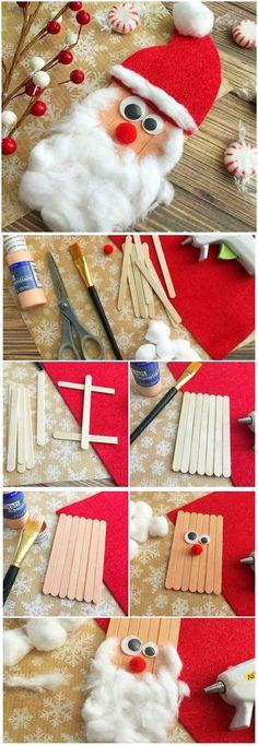 Craft Sticks Santa Craft