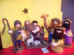 felted wool nativity scene