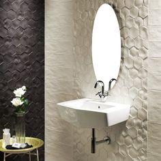 "Caprichos 5"" x 4"" Porcelain Field Tile in White"