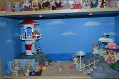 Sylvanian Families Beach Front Diorama Completed