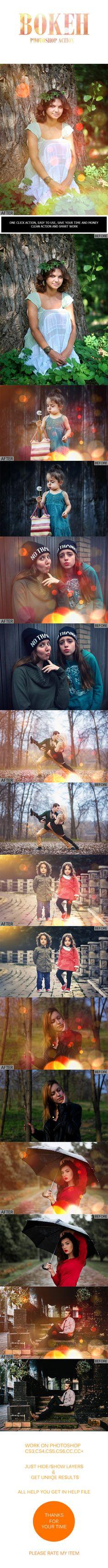 Bokeh Photoshop Action - Photo Effects Actions actions, add-on, bokeh, bokeh action, bokeh effect, bokeh fashion, bokeh light, camera, cityscape, color action, color effect, depth, edition, effect, fashion, lens blur, light