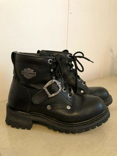 53b42396c186 HARLEY DAVIDSON Womens HD Riding BOOTS size 8.5 Zip EUC  fashion  clothing   shoes
