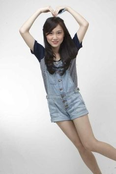 Michelle Christo #JKT48 #AKB48 Overall Shorts, Overalls, Album, Women, Fashion, Moda, Fashion Styles, Jumpsuits, Fashion Illustrations