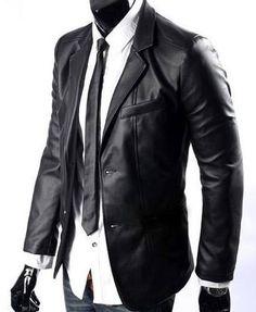 Como vestir una chaqueta de cuero hombre