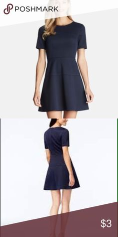 New Cece by Cynthia Steffens Seamed Scuba Dress Round neck, short sleeves, back zip closure and horizontal seams.💞 Dresses Midi
